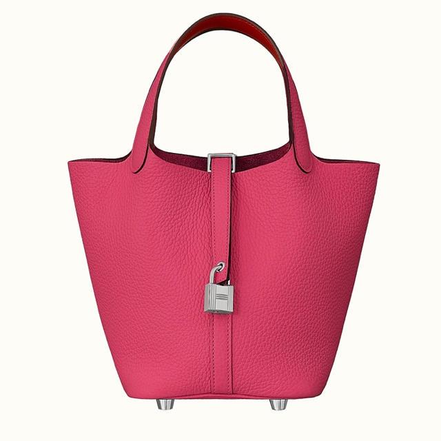 Hermes(エルメス)の新品エルメスローズ・メキシコ/ルージュドゥクールピコタンロックPM18エクラ レディースのバッグ(ハンドバッグ)の商品写真