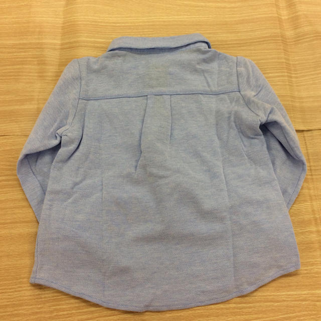 familiar(ファミリア)のfamiliar 長袖ポロシャツ ブルー 90cm 02MN1001134 キッズ/ベビー/マタニティのキッズ服男の子用(90cm~)(Tシャツ/カットソー)の商品写真