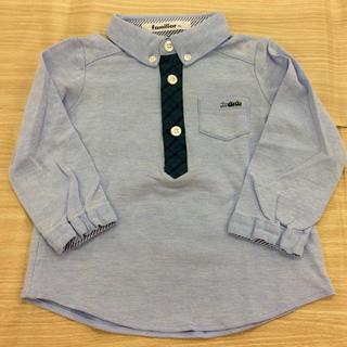 familiar - familiar 長袖ポロシャツ ブルー 90cm 02MN1001134