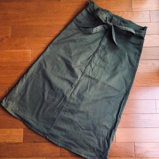 ギャップ(GAP)のGAP ウエストリボン 台形 スカート(ロングスカート)