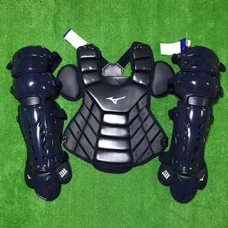 MIZUNO - ★新品未使用★ 一般軟式用 キャッチャー プロテクター レガース 防具 紺