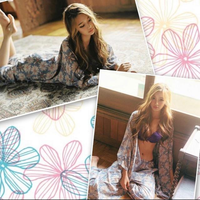 ルームウェア 花柄 3点セット レディース キャミソール ガウン 部屋着 レディースのルームウェア/パジャマ(ルームウェア)の商品写真