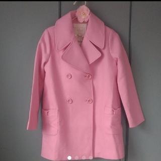 ケイトスペードニューヨーク(kate spade new york)のタグ付未使用 ケイトスペードニューヨーク ピンクのコート 152 150cm(コート)