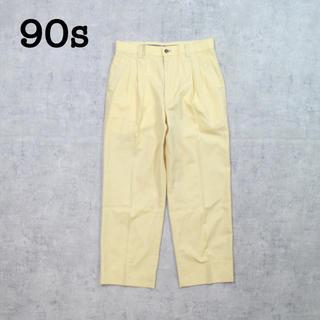 コモリ(COMOLI)の90s vintage ワイドパンツ スラックス 2タックパンツ カラーパンツ(スラックス)
