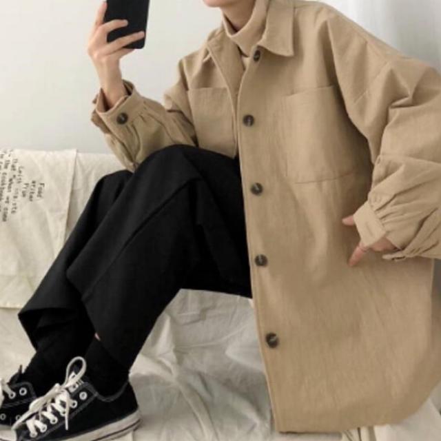 HARE(ハレ)のハレ ゆったりジャケット ベージュ ブラック メンズのジャケット/アウター(その他)の商品写真