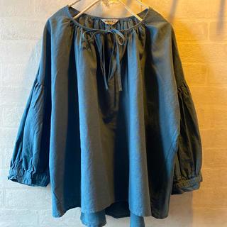 SM2 - *未使用*SM2  麻×綿 前リボン ふっくら袖 長袖ブラウス