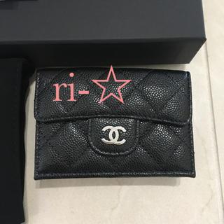 シャネル(CHANEL)のCHANEL 三つ折り財布 ミニ財布 折り財布 マトラッセ ブラック シャネル(財布)