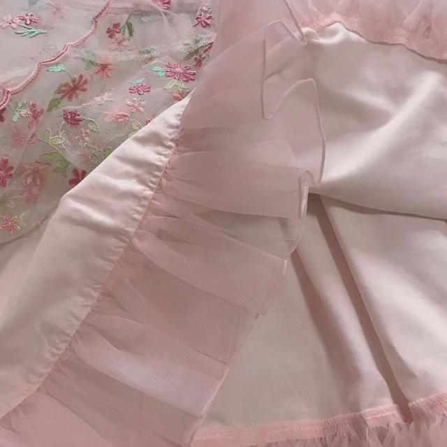 TOCCA(トッカ)のトッカ TOCCA お花刺繍ドレス 120  ピンク キッズ/ベビー/マタニティのキッズ服女の子用(90cm~)(ワンピース)の商品写真