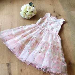 TOCCA - トッカ TOCCA お花刺繍ドレス 120  ピンク