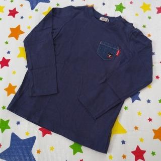 DOUBLE.B - ダブルB 長袖Tシャツ 130cm 紺 ミキハウス ロンT ポケット