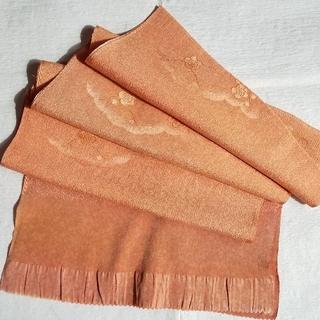 新品 帯揚げ 正絹 朱鷺(とき)色(和装小物)