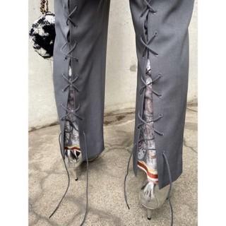 Ameri VINTAGE - ameri UNDRESSED CRUISE SCARF SLIT PANTS