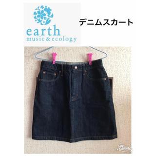 アースミュージックアンドエコロジー(earth music & ecology)のearth music&ecology デニムスカート(ミニスカート)