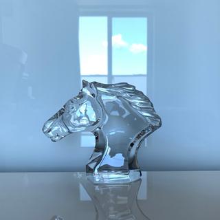バカラ(Baccarat)の✯逸品 Baccarat バカラ 馬の頭 クリスタル 置物 オブジェ 美品 ✯(置物)