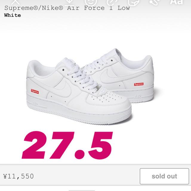 Supreme(シュプリーム)のSupreme Nike Air Force 1 Low シュプリーム メンズの靴/シューズ(スニーカー)の商品写真