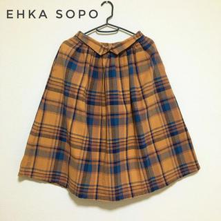 エヘカソポ(ehka sopo)のehka sopo チェックスカート M(ひざ丈スカート)