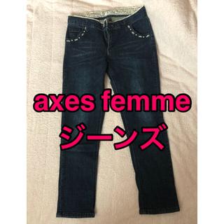アクシーズファム(axes femme)のaxes femme アクシーズファム レディース ジーンズ 濃紺(デニム/ジーンズ)