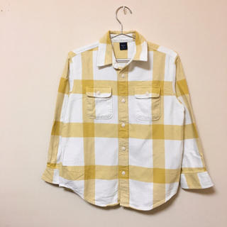 ギャップキッズ(GAP Kids)のGAP★ギャップ★厚手のブロックチェックシャツ L(140) 綿100%(ブラウス)