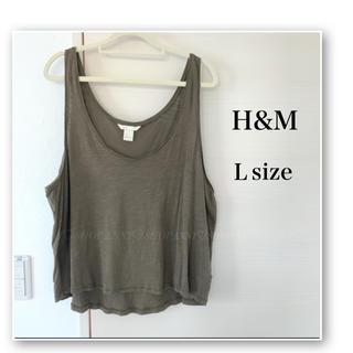 H&M - H&M♡オーバーサイズ タンクトップ♡カーキ♡ゆるシルエット