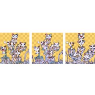 村上隆 パンダ3種類ポスターセット オフセットプリント サイン入り(版画)