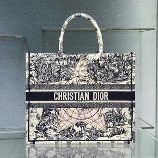 Dior - 超美品☆ディオール☆ブックトート☆ビックサイズ☆ネイビー