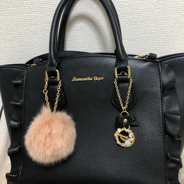 Samantha Vega(サマンサベガ)のサマンサベガ フラッター バッグ 黒 レディースのバッグ(ハンドバッグ)の商品写真