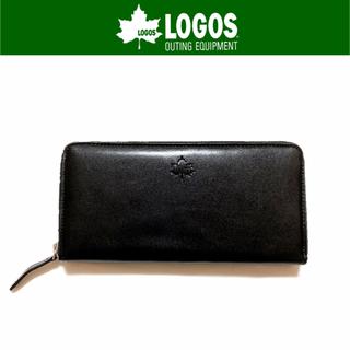 ロゴス(LOGOS)の【新品】LOGOS ラウンドジップ長財布 ブラック(長財布)