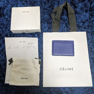 セリーヌ(celine)のセリーヌ カードケース ネイビーブルー(名刺入れ/定期入れ)