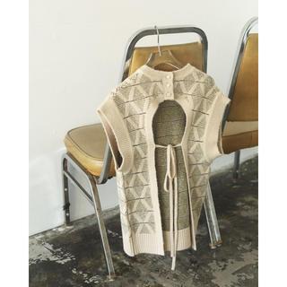 TODAYFUL - Pattern Knit Vest  アイボリー