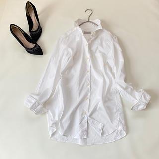 DEUXIEME CLASSE - 美品✨ドゥズィエムクラス ワイヤーウォッシュシャツ 白 ホワイト 長袖 秋服