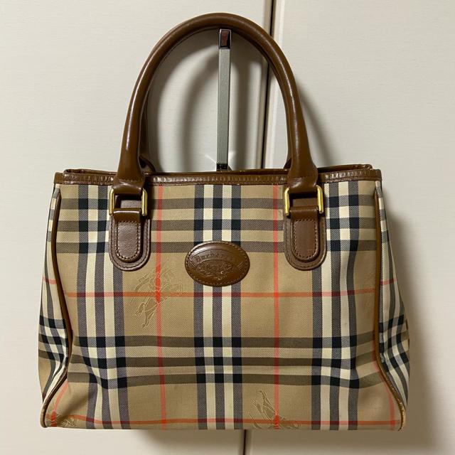 BURBERRY(バーバリー)の美品 バーバリー ハンド バッグ チェック ハンドバッグ レディースのバッグ(ハンドバッグ)の商品写真