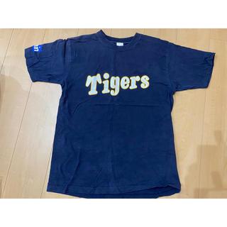 ハンシンタイガース(阪神タイガース)の阪神タイガース 応援Tシャツ『魅せたる!』ネイビー(応援グッズ)