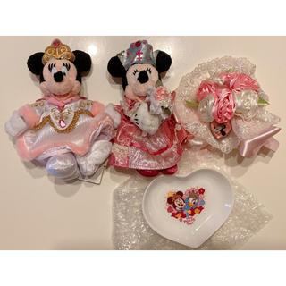 ミニーマウス - ディズニー プリンセスデイズ  ぬいぐるみバッジ スーベニアプレート