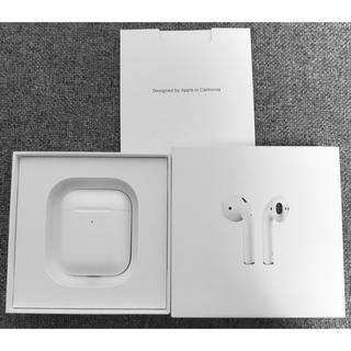 アップル(Apple)のApple AirPods 2世代 ワイヤレス充電対応 (ヘッドフォン/イヤフォン)