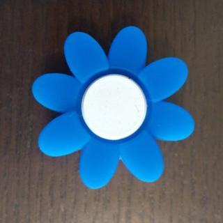 【新品・未使用】振動止め 1個 花柄 青×白 かわいい 組みあわせOK!T104(その他)