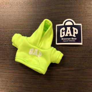 ギャップ(GAP)の限定!a【新品】GAP ガチャ ガチャガチャ ブラナンベア パーカー グリーン(キャラクターグッズ)
