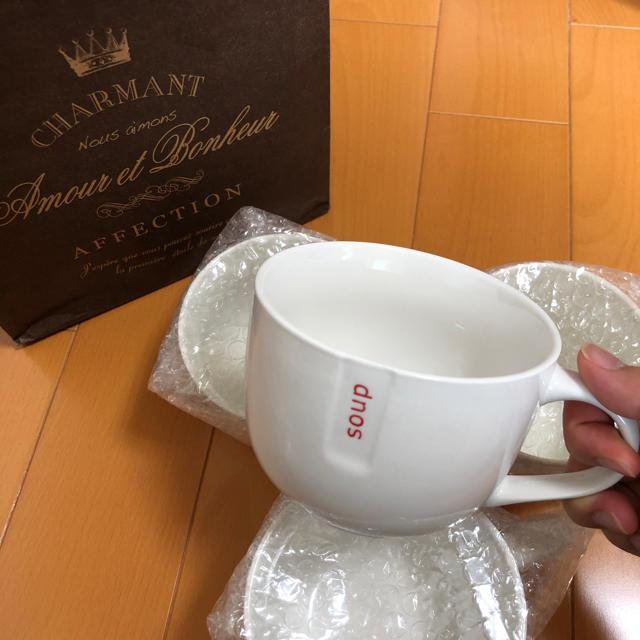 ペアカップ マグカップ 4つセット カップ ホワイト インテリア/住まい/日用品のキッチン/食器(グラス/カップ)の商品写真