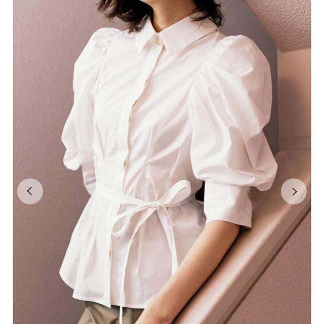 snidel(スナイデル)のSNIDEL ORGANICS パワショルブラウス レディースのトップス(シャツ/ブラウス(半袖/袖なし))の商品写真