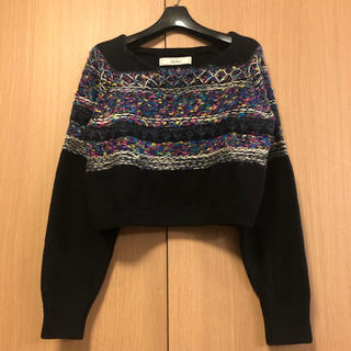 Lily Brown - リリーブラウン ニット セーター  手編み ツイード