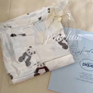 gelato pique - ジェラートピケ パンダ柄ドレス パンダ ワンピース ドレス ホワイト 長袖