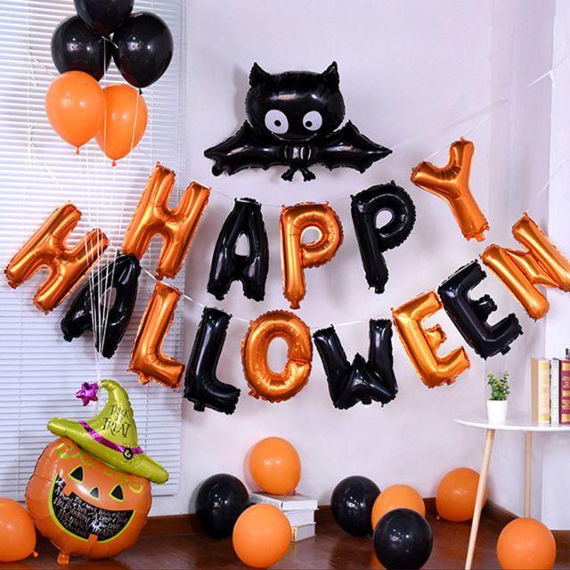 ハロウィン 風船 バルーン 飾り付け 仮装 子供 かぼちゃ コスプレ イベント インテリア/住まい/日用品のインテリア小物(ウェルカムボード)の商品写真