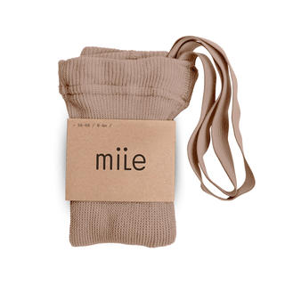 ザラキッズ(ZARA KIDS)のmile 肩紐付きタイツ ブラウンベージュ 12-24M(靴下/タイツ)