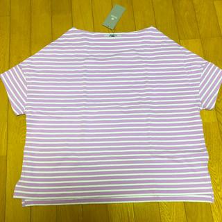 ナノユニバース(nano・universe)のナノユニバース ボーダーワイドドロップTシャツ(Tシャツ(半袖/袖なし))
