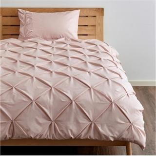 Francfranc - Francfranc シングル パロン 掛け布団カバー 枕カバー ピンク