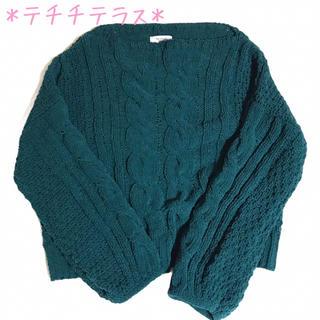 テチチ(Techichi)の【テチチテラス】袖が可愛い♡もこケーブルニット (ニット/セーター)