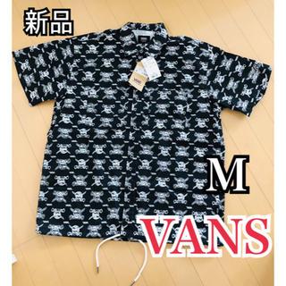 ヴァンズ(VANS)の新品 VANS 半袖 シャツ ジャケット M 総柄 スカルパイレーツ ブラック(シャツ)