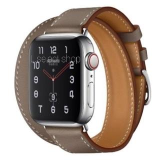 ビームス(BEAMS)の415.band apple watch H double【etoupe】(レザーベルト)