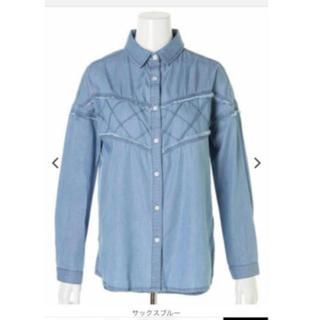 アンビー(ENVYM)のENVYM デニムフリンジシャツ(シャツ)