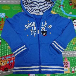 ダブルビー(DOUBLE.B)のミキハウス・ダブルB・120・刺繍Bくんパーカー(ジャケット/上着)