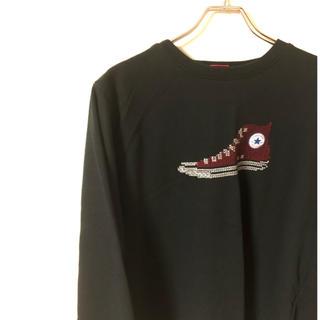 コンバース(CONVERSE)のコンバース ロンt  ビッグロゴ 刺繍 ゆるだぼ ユニセックス レディース(Tシャツ/カットソー(七分/長袖))